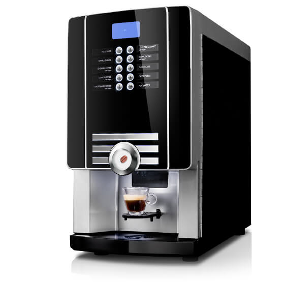 Sort Larhea Cine eC kaffemaskine til hele bønner eller intantkaffe.