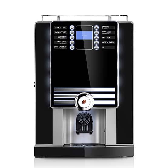 Sort Larhea Cino xs Grande Pro kaffemaskine til hele bønner.