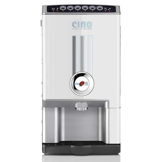 Hvid Larhea Cino xx Micro kaffemaskine til intantkaffe.