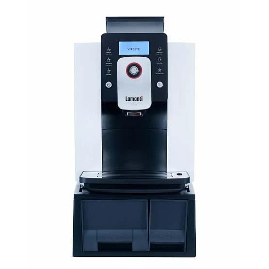 Hvid Lamanti Spazio 1601 kaffemaskine.