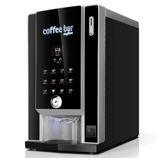 Sort Larhea Cine Dippio&cup kaffemaskine til hele bønner eller intantkaffe.