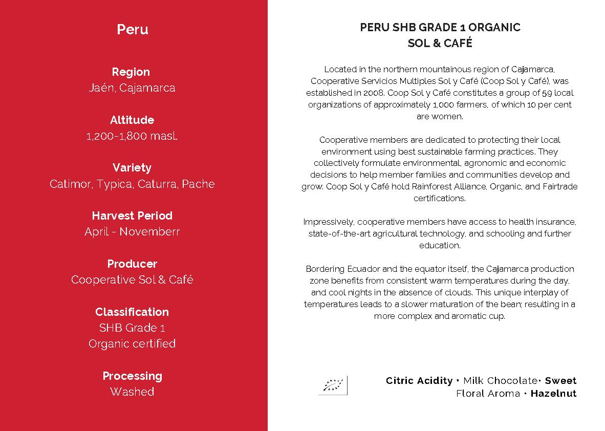 Cupping af Peru kaffebønner